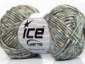 Air bavlna pixels - modrovelbloudíkrémová