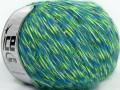 Aitana vlna - mouline - modrofosforeskujícízelenobílá