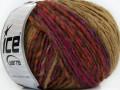 Alladin Alpaka - hnědofuchsiovooranžovočervená