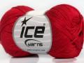 Almina bavlna - červená