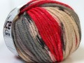 Alpaka bulky magic - červenošedokrémová