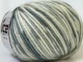 Alpaka bulky magic - šedobílé odstíny