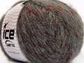 Alpaka šajn - šedočervená