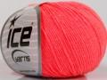 Amigurumi bavlna - neonově lososová