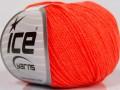 Amigurumi bavlna - neonově oranžová