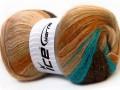 Angora color glitz - hnědotyrkysovokrémová