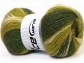 Angora color glitz - zelené odstíny
