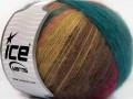 Angora design new - modrozelenohnědá