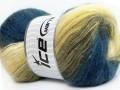 Angora supreme color - modrošedokrémová