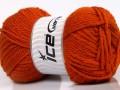 Atlaš - tmavě oranžová