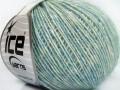 Baby alpaka merino bavlna - světlá zelenotyrkysová