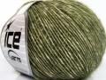 Baby alpaka merino bavlna - tmavě zelená