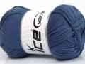 Baby bavlna 1 - indigo modrá