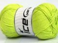Baby bavlna 1 - neonově zelená