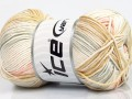 Baby bavlna print - krémovošedolososová