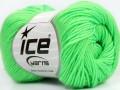 Baby merino Deluxe - neonově zelená