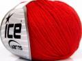 Baby merino soft DK - červená