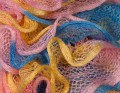 Ballerina Glitz - šálová - růžovožlutomodrá