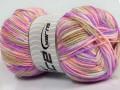 Bambino colorato - fialovorůžovovelbloudíbílá