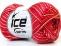 Bavlna Almina color - červenolososovobílá