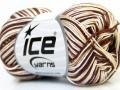 Bavlna Almina color - hnědokrémovobílá