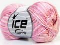 Bavlna Almina color - růžovofialovobílá