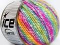 Bavlna pastel - fialovofuchsiovotyrkysovozelená