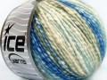 Bavlna pastel - modrokrémovozelená