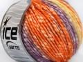 Bavlna pastel - oranžovopurpurovožlutá