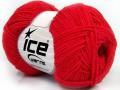 Bavlna soft - rajčatovo červená