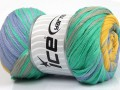 Bavlna tape color - mátověšedomodrá