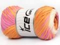 Bavlna tape color - oranžovorůžovokrémová