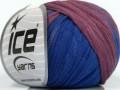 Bavlna tepe print - modrovínová