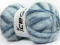 Bermuda mohér - modré odstíny