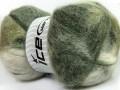 Bermuda mohér - zelenobílé odstíny