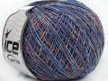 Bicol kašmír - purpurovomodrooranžovokrémová