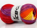 Camilla bavlna magic - červenopurpurovooranžovožlutosvětle růžová