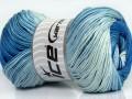 Camilla bavlna magic - modré odstíny