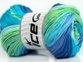 Camilla bavlna magic - modrozelenofialová