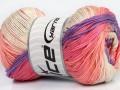 Camilla bavlna magic - růžovolososovofialovozelená