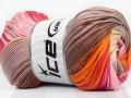Camilla bavlna magic - růžovooranžovokrémová
