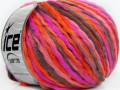 Candy multicolor - oranžovorůžovošedá