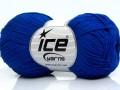 Čistá bavlna fajn new - saxe modrá