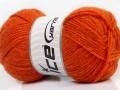 Derby vlna - oranžová melánž