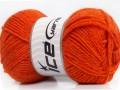 Derby vlna - tmavě oranžová