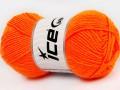 Dětská vlna - neonově oranžová