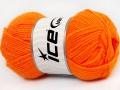 Dětská vlna - světle oranžová
