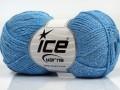 Elegantní metalická bavlna - světle modrá