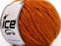 Etno Alpaka - tmavě oranžová