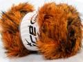 Faux fur color - oranžovohnědá